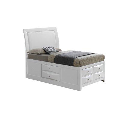 Leonis Storage Upholstered Platform Bed Finish: White, Size: Twin