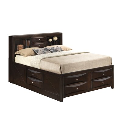 Leonis Platform Bed Size: Full, Finish: Cappaccino