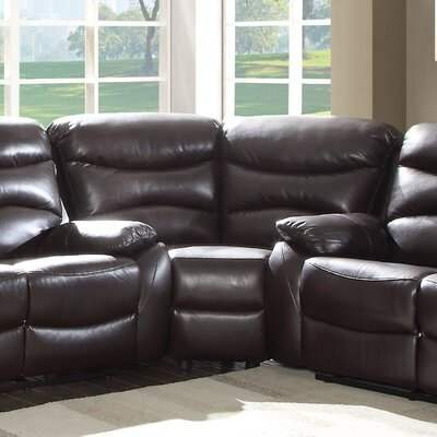 Latitude Run LATR9474 Lynx Wedge Reclining Sectional