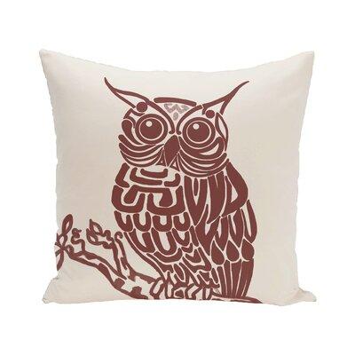 Manwe Bird Print Floor Pillow Color: Off White/Black
