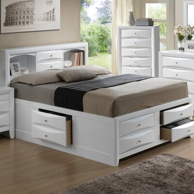 Leonis Platform Bed Finish: White, Size: Queen