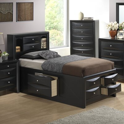 Medford Platform Bed Size: Twin, Color: Black