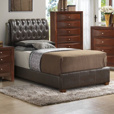 Medford Upholstered Panel Bed Size: Full, Color: White