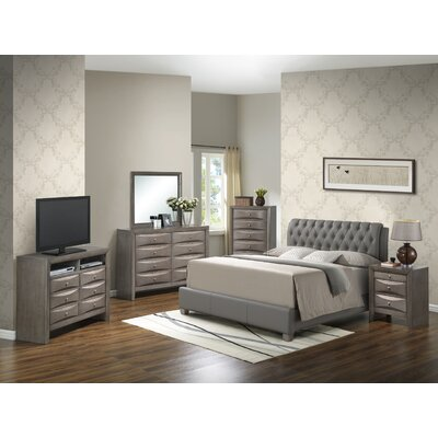 Leonis Upholstered Panel Bed Size: Queen