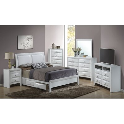 Leonis Storage Upholstered Platform Bed Finish: White, Size: Queen