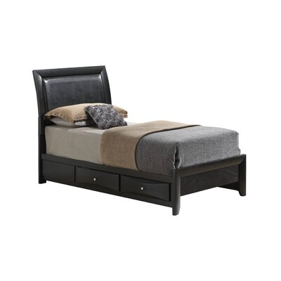Medford Storage Upholstered Platform Bed Size: Twin, Color: Black