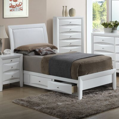 Medford Storage Upholstered Platform Bed Size: Twin, Color: White