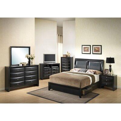 Leonis Storage Upholstered Platform Bed Size: Queen, Finish: Black