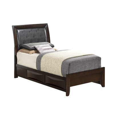 Leonis Storage Upholstered Platform Bed Size: Twin, Finish: Cappaccino