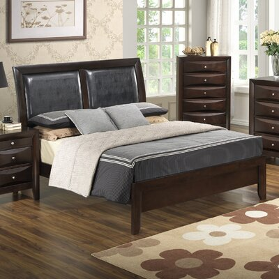 Leonis Upholstered Panel Bed Size: Queen, Finish: Cappaccino
