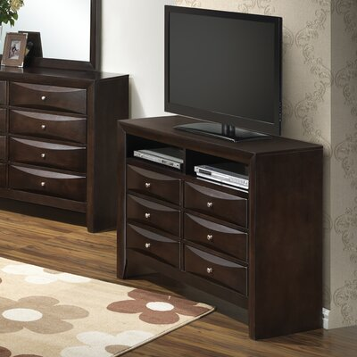 Leonis 6 Drawer Media Chest Color: Cappaccino