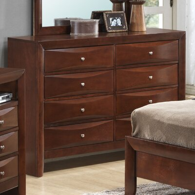 Leonis 8 Drawer Double Dresser Color: Cherry
