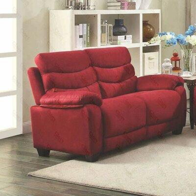Ohboke Loveseat Upholstery: Red Cherry
