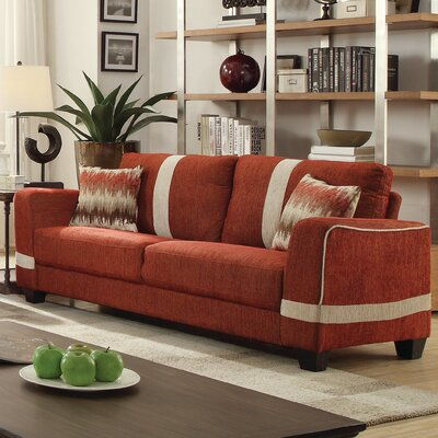 Lundia Sofa Upholstery Color: Red/Beige