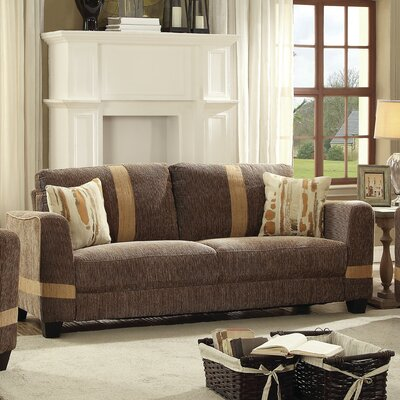 Lundia Sofa Upholstery Color: Brown/Beige