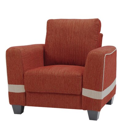 Lundia Armchair Upholstery: Red/Beige