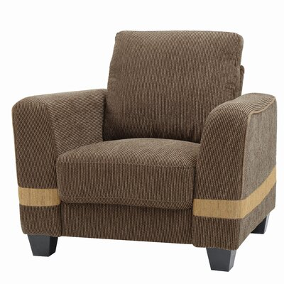Lundia Armchair Upholstery: Brown/Beige