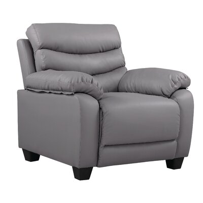 Ohboke Club Chair Leather Color: Gray