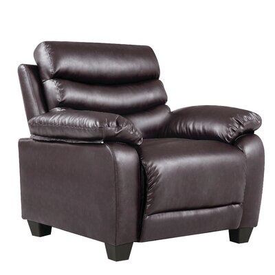 Ohboke Club Chair Leather Color: Dark Brown