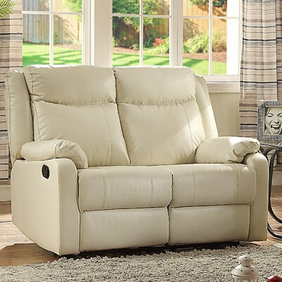 Leo Minor Double Reclining Loveseat Upholstery: Pearl