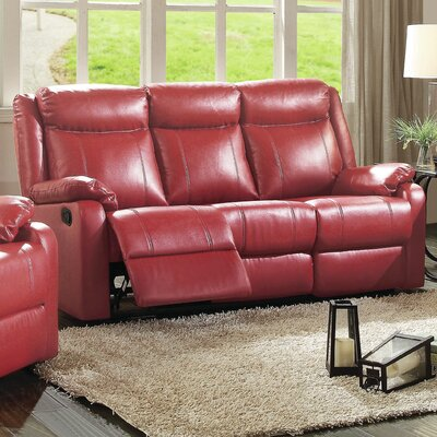 Latitude Run LATR9520 Leo Minor Double Leather Reclining Sofa Upholstery