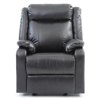 Leo Minor Rocker Recliner Upholstery: Black