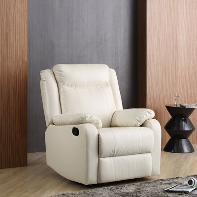 Leo Minor Rocker Recliner Upholstery: Pearl