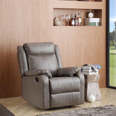 Roudebush Manual Rocker Recliner Upholstery: Gray