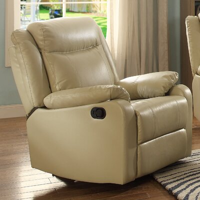 Leo Minor Rocker Recliner Upholstery: Cream