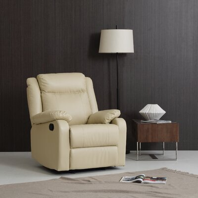 Roudebush Manual Rocker Recliner Upholstery: Cream