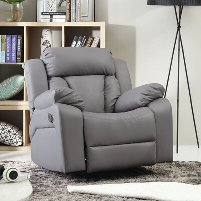 Pavonis Manual Rocker Recliner Color: Gray