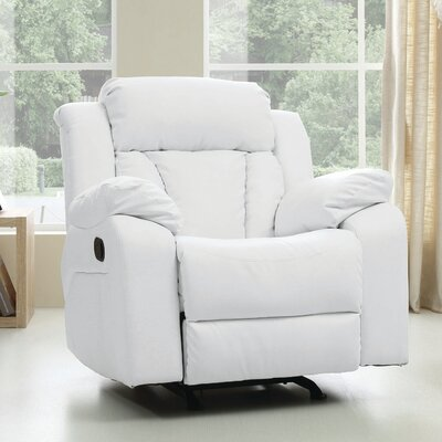 Pavonis Manual Rocker Recliner Color: White