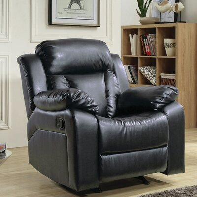 Pavonis Manual Rocker Recliner Color: Black