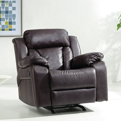 Pavonis Manual Rocker Recliner Color: Brown