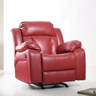 Pavonis Manual Rocker Recliner Color: Red
