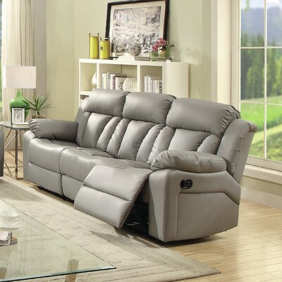 Pavonis Reclining Sofa Color: Gray