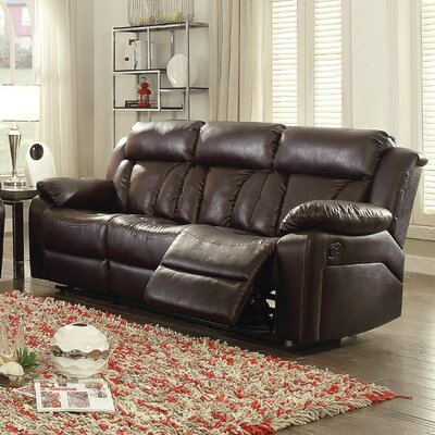 Pavonis Reclining Sofa Upholstery: Brown