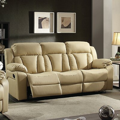 Pavonis Reclining Sofa Color: Beige
