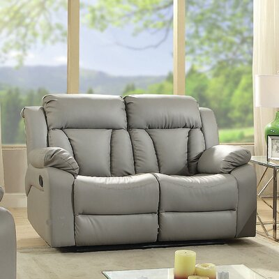Pavonis Reclining Loveseat Upholstery: Gray