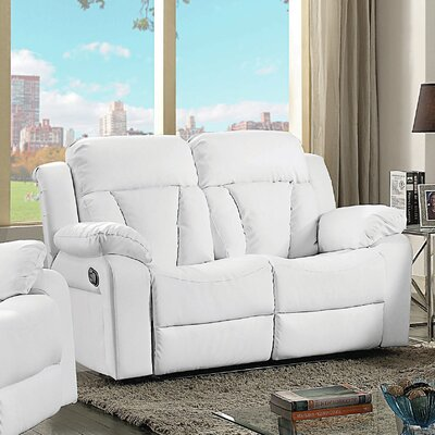 Pavonis Loveseat Color: White