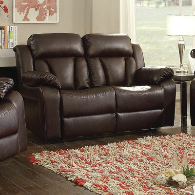 Pavonis Reclining Loveseat Upholstery: Brown