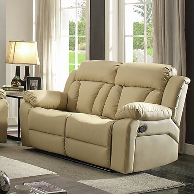 Pavonis Reclining Loveseat Color: Beige