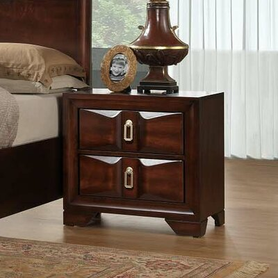 Simmons Casegoods Pax 2 Drawer Nightstand