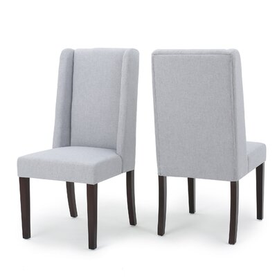 Harlow Side Chair Upholstery: Light Gray Blue