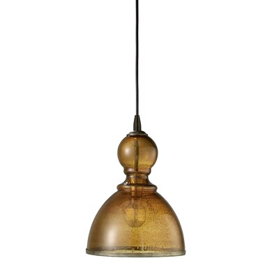 Hawthorn Pendant Shade Color: Amber, Size: Large