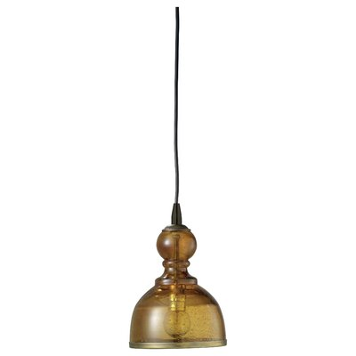 Hawthorn Pendant Shade Color: Amber, Size: Small