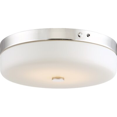 Chatfield 1-Light Flush Mount Finish: Polished Nickel
