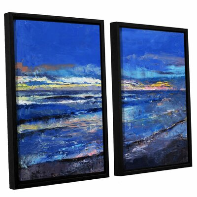 'Midnight Blue' by Michael Creese 2 Piece Framed Painting Print on Canvas Set Size: 24