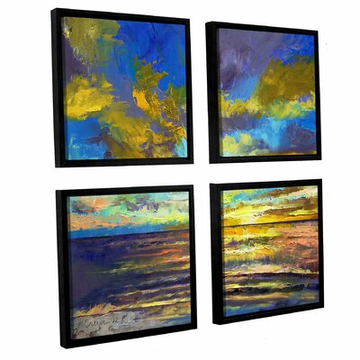 'Sunset Key Largo' by Michael Creese 4 Piece Framed Painting Print on Canvas Set Size: 36