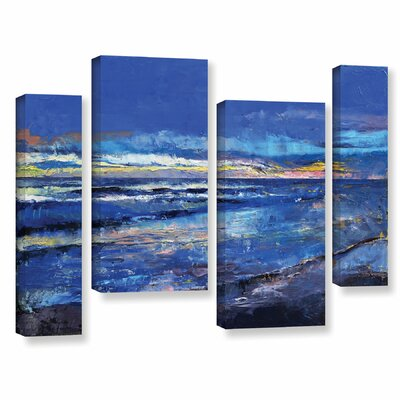 Midnight Blue 4 Piece Painting Print on Wrapped Canvas Set Size: 24